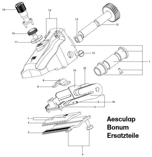 Aesculap Ersatzteile für Aesculap Bonum, Auswahl