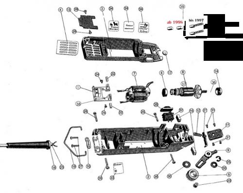 Aesculap Ersatzteile für Favorita II mit Auswahl