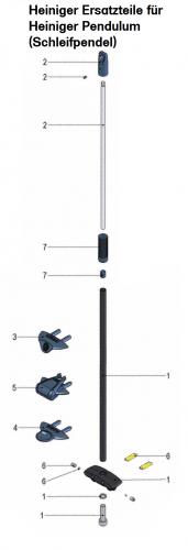 Heiniger Ersatzteile für Heiniger Pendulum (Pendel der Heiniger Acutecc Schleifmaschine) - siehe Beschreibung, Auswahl