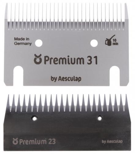 18957 KERBL Premium Schermesser - Schermesserset 31/23 Zähne - ca. 3 mm (ersetzt 18962)