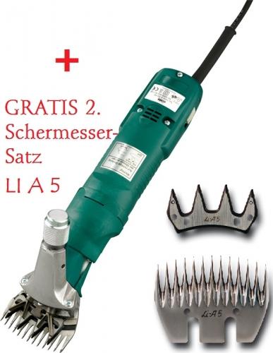 LISTER / LISCOP Schermaschine / Schafschermaschine Super Profi 3000 mit LI A5 + 2. Messer-Satz gratis!