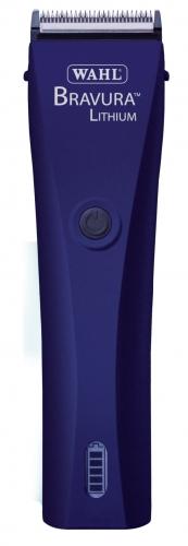 WAHL Bravura Lithium Hunde Akku-Schermaschine für spezielle Partien am Hund 1870-0482, midnight blue