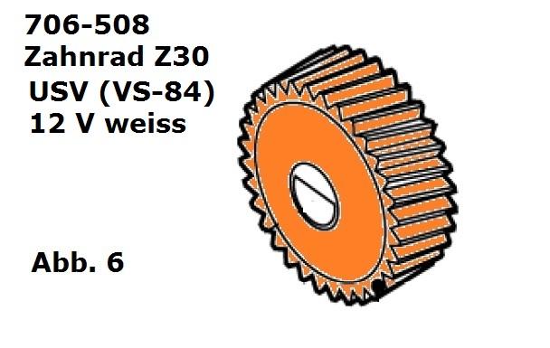 Zahnrad Z30 weiss für USV (VS 84)/C12
