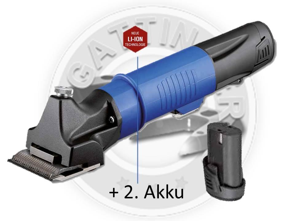 <2 Akku> + LI 107 für stark verschmutzte Tiere