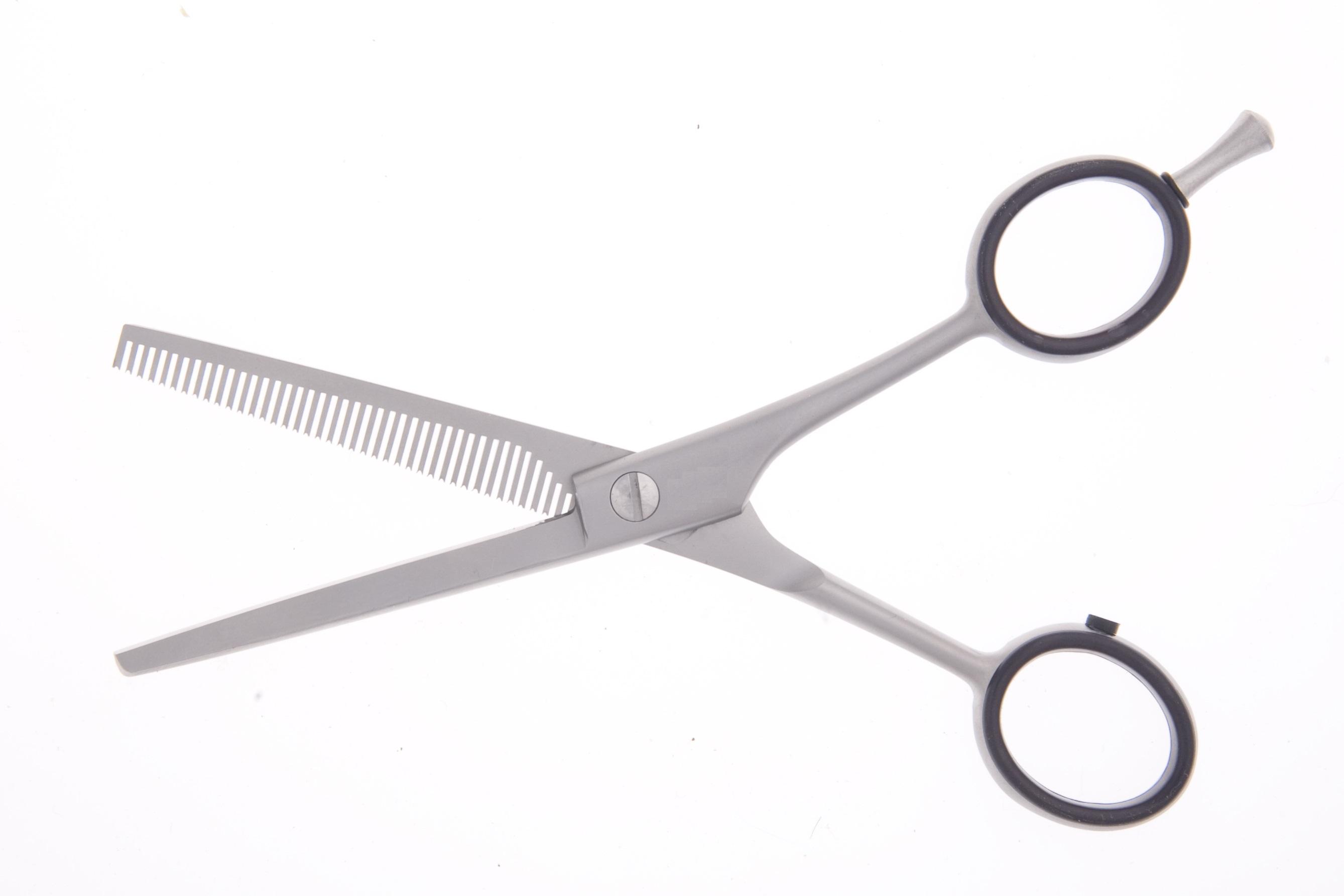 16,0 cm - 40 Zähne, Einseitig (Modelierschere), Rundhalm