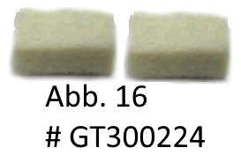 Ölfilz für unteres Gehäuse 12x9 (1 PAAR), Abb. 16 (ersetzt GT104224)
