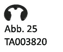 Sicherungsscheibe für Ritzel u. Staubdeckel, Abb. 25