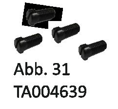Flachkopfschraube M3x6  (für Schwalbenschwanzbefestigung) - SET 4 Stück, Abb. 31