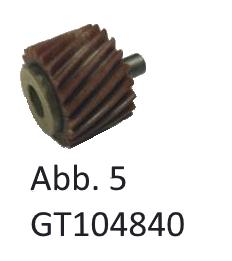 Zahnrad Aufsatz / Schneckenrad, Abb. 5