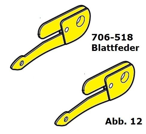 Blattfeder (komplett - 2 Seiten)  für Handy (HC)/Cordless (Battery Clipper)/USV (VS-84)/C12/Delta3/Progress/Xperience/Xplorer -