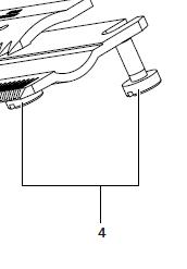 -> Unterkammschraube / Flachkopfschraube (2 Stück)