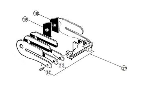 -> Schwinger montiert, beinhaltet Schwinger, Schaftschraube, Schwingfederblätter