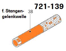 Führungsrohr Stangengelenkwelle DT  Ø22 x 180 mm, Abb. 38