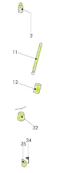 Ersatzteilset klein OMEGA 94 / ICON Pos. 2 / 11 / 12 / 32 / 34 / 35