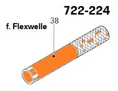 Führungsrohr Flexwelle Ø22 x 160 mm, Abb. 38
