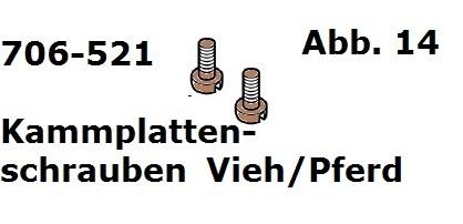 Kammplattenschraube Vieh/Pferd (2 Stück) für Handy (HC)/Cordless (Battery Clipper)/USV (VS-84)/C12/Delta3/Progress/Xperience/Xpl
