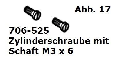 Zylinderschraube M3 x 6 mit Schaft (2 Stück) für Handy (HC)/Cordless (Battery Clipper)/USV (VS-84)/C12/Delta3/Progress/Xperience