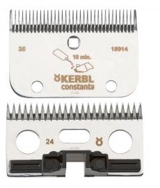 18914 CONSTANTA Schermesser R2 - Schermesser-Set für Constanta Rodeo 24/35 Zähne, für die Pferde Standardschur (fein)