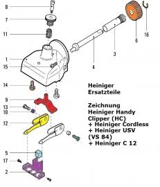 Heiniger Ersatzteile für Heiniger Handy (HC) + Cordless + USV (VS 84) + C12 - siehe Beschreibung, Auswahl