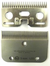 Schermesser L22 (ähnlich LISTER / LISCOP LI A 2 und CONSTANTA KERBL 20) Schnitthöhe ca. 3 mm - Gattinger Hausmarke