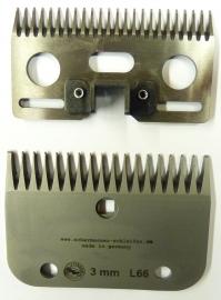 Schermesser L66 (ähnlich LISTER / LISCOP LI A 6 und CONSTANTA KERBL 60) Schnitthöhe ca. 3 mm - Gattinger Hausmarke