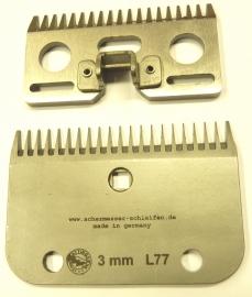 Schermesser L77 (ähnlich LISTER / LISCOP LI A 7 und CONSTANTA KERBL 70) Schnitthöhe ca. 3 mm - Gattinger Hausmarke