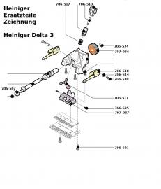 Heiniger Ersatzteile für Heiniger Delta3 - siehe Beschreibung, Auswahl