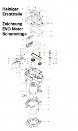 Heiniger Ersatzteile für Heiniger EVO 300 W Motor Schuranlage - siehe Beschreibung, Auswahl