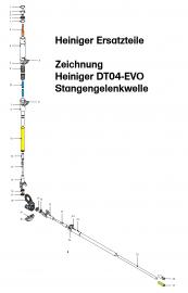 Heiniger Ersatzteile für Heiniger Stangengelenkwelle DT04-EVO - siehe Beschreibung, Auswahl