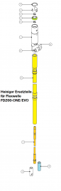 Heiniger Ersatzteile für Heiniger Flexwelle / flexible Welle FD200-ONE/EVO 200 cm - siehe Beschreibung, Auswahl
