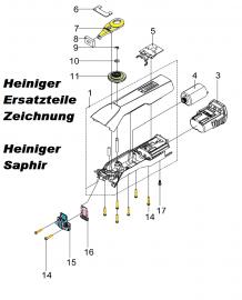 Heiniger Ersatzteile für Heiniger Saphir - siehe Beschreibung, Auswahl