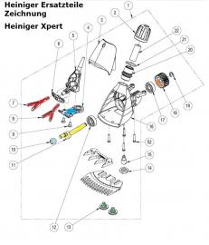 Heiniger Ersatzteile für Heiniger Xpert - siehe Beschreibung, Auswahl