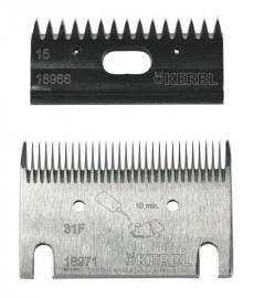 18963 KERBL Constanta4 Premium Schermesser - Schermesserset 31F/15 Zähne (0,5 mm)