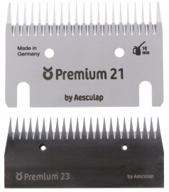 18955 KERBL Premium Schermesser - Schermesserset 21/23 Zähne - ca. 3 mm (ersetzt 18960)