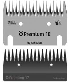 18959 KERBL Premium Schermesser 18/17 Zähne - ca. 3 mm für Rinder-Grobschur