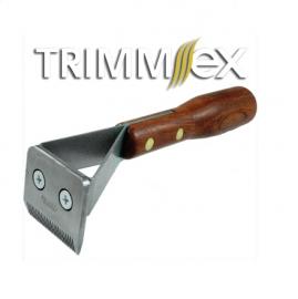 Trimmmesser TRIMM.EX® - Unterwollentferner Hundetrimmstriegel, mit Holzgriff, Variantenauswahl