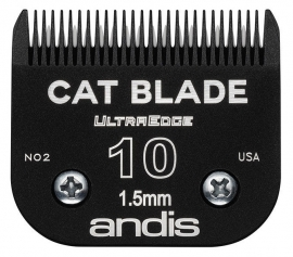 andis Size 10 UltraEdge Scherkopf, 1,5 mm, Spezialscherkopf für Katzen (schwarz) Cat Blade / Katzenscherkopf
